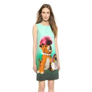 Moschino Cheap and Chic Flintstones tiger dress